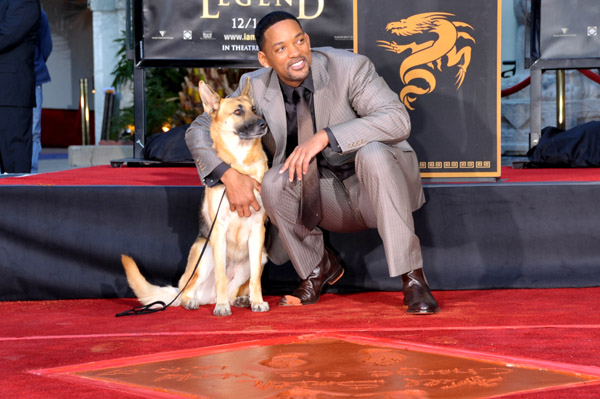 уилл смит со своей собакой will smith and his dog