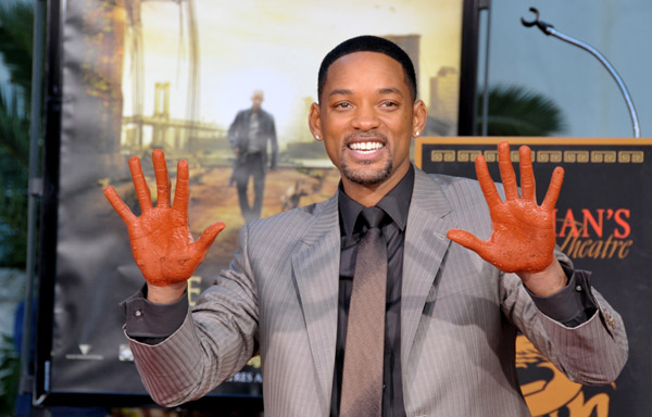 will smith at foot and handprint ceremony in los angeles