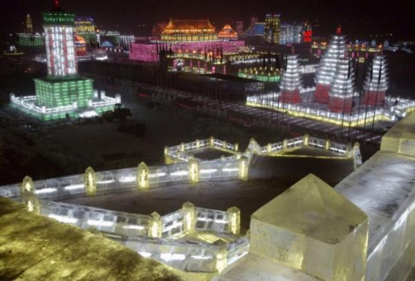 internation snow sculpture expo in harbin