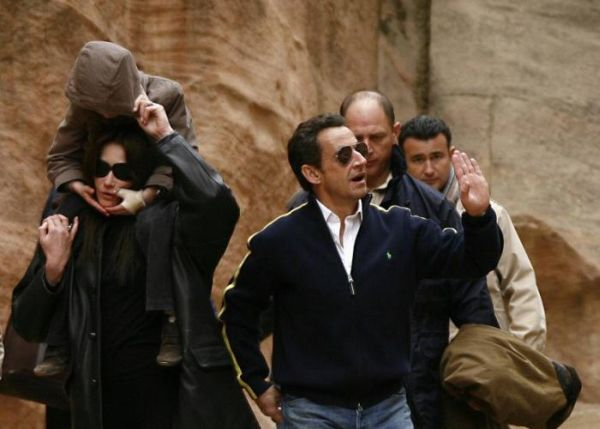 sarkozy and bruni in jordan