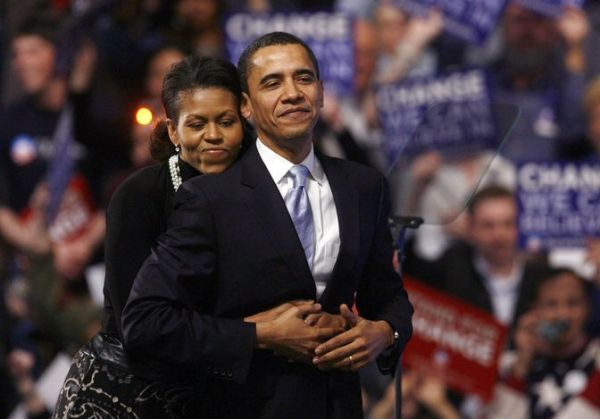 barack obama and michelle obama in new hampshire