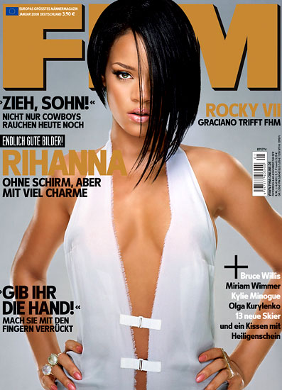 rihanna fhm cover january 2008