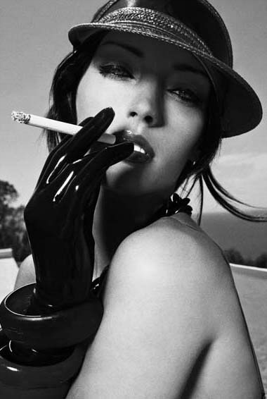 hot woman smoking cigarette in calendar i smoke 2008