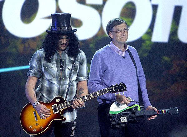 bill gates and slash