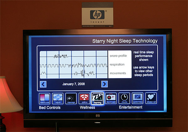 кровать starry night sleep technology