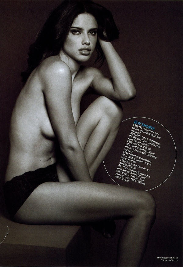 adriana lima featured in esquire magazine