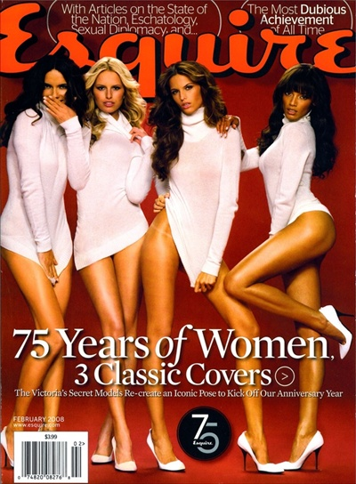 esquire magazine february cover with victoria's secret models