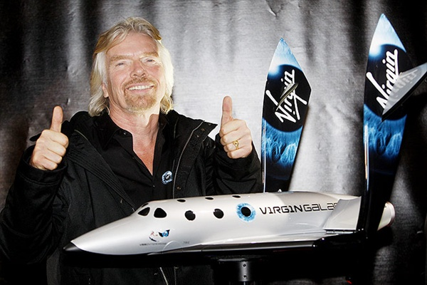richard branson presents spaceshiptwo in new york