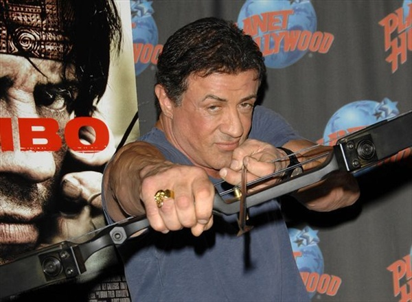 sylvester stallone promotes his new film rambo сильвестр сталлоне