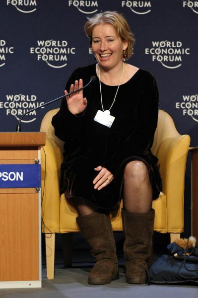 emma thompson at world economic forum in davod switzerland