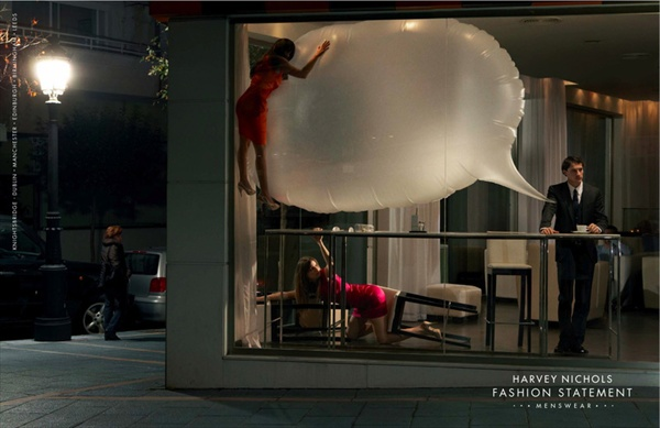 fashion statement by agency ddb london for harvey nichols offering world's most prestigious brands