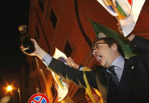 gianni alemanno participates in street celebration