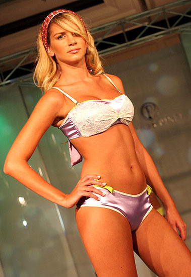 Carlos Pinel collection at Expocostura 2008 fashion show in Medellin Colombia