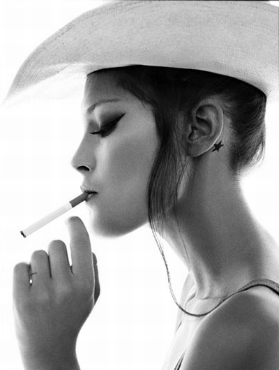 catherine mcneil with a cigarette