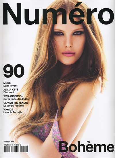 catherine mcneil numero 90 february 2008 cover - editorial cowboy cat by greg kadel