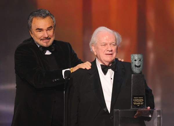 charles during sag awards with burt reynolds
