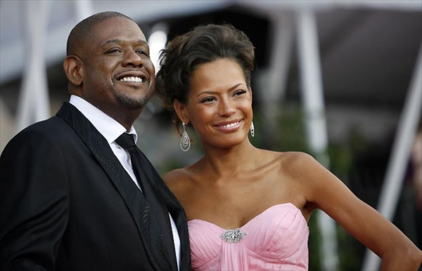 форест уитейкер с женой кешей forest whitaker with his wife keisha sag awards red carpet