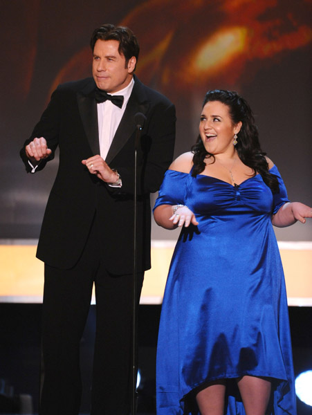john travolya nikki blonsky sag awards джон траволта никки блонски