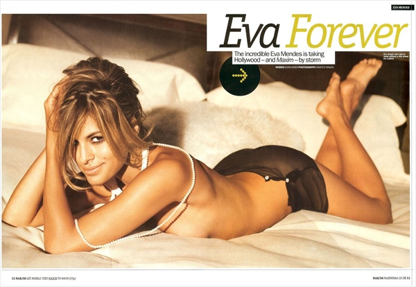 eva mendes topless in maxim uk march 2008