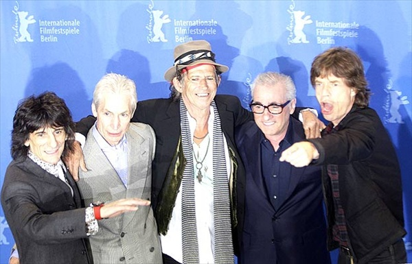 Ronnie Wood, Charlie Watts, Keith Richards, Martin Scorsese, Mick Jagger