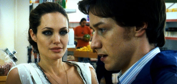 angelina jolie and james mcavoy starring in wanted by timur bekmabetov