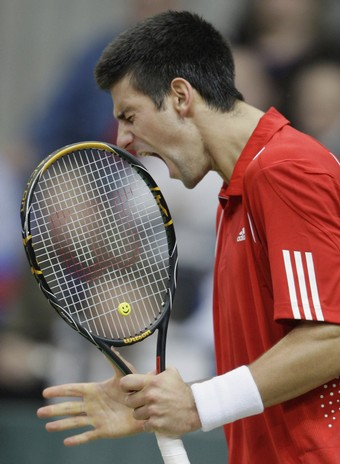 novak djokovic of Serbia during The Davis Cup World Group