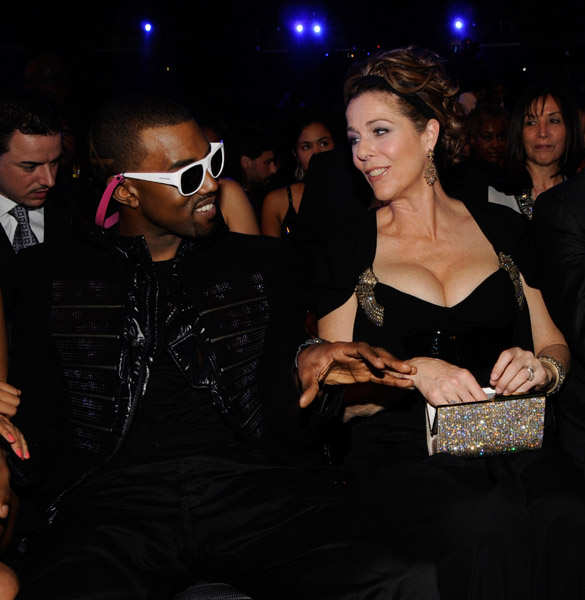 kanye west and rita wilson backstage and audience