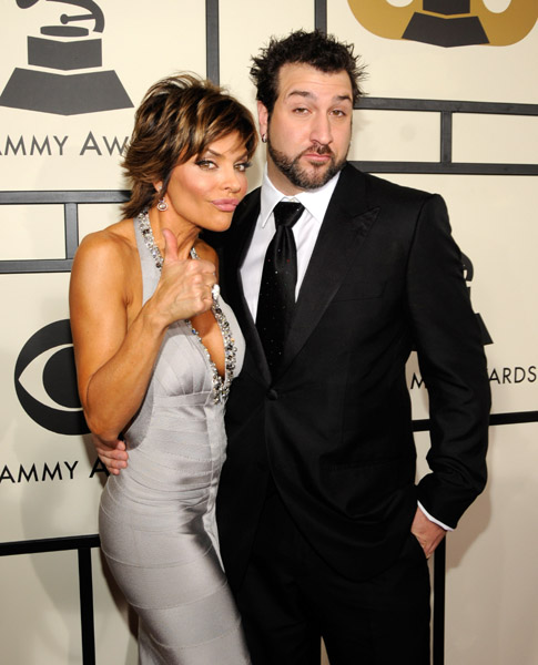 lisa rinna and joey fatone at grammy awards
