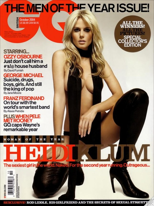 heidi klum woman of the year gq the man of the year issue 2007