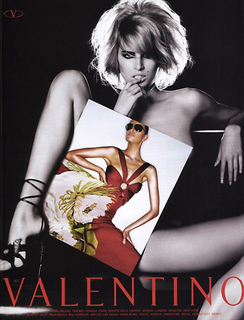 valentino fashion ad by karolina kurkova