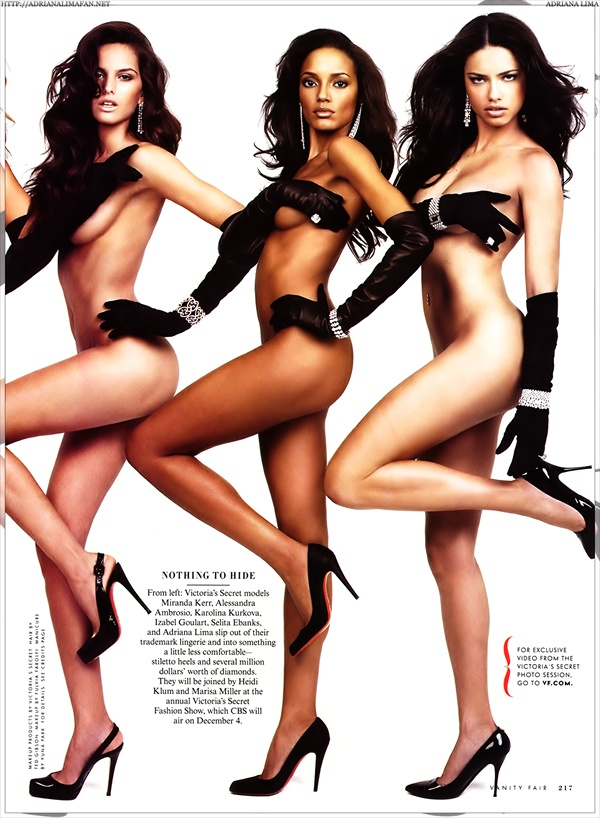 Victoria's Secret models - Izabel Goulart Selita Ebanks Adriana Lima - Vanity Fair Fall 2007