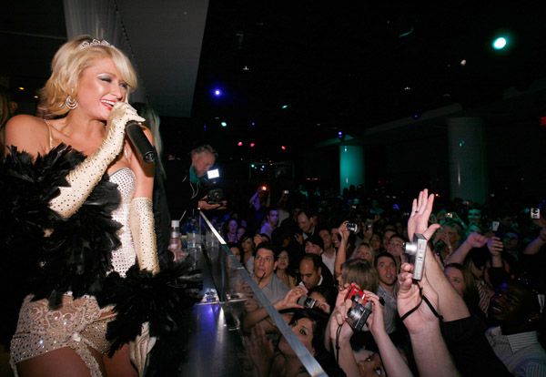 Paris Hilton's Birthday Party as a Guest Pussycat Doll at PURE Nightclub