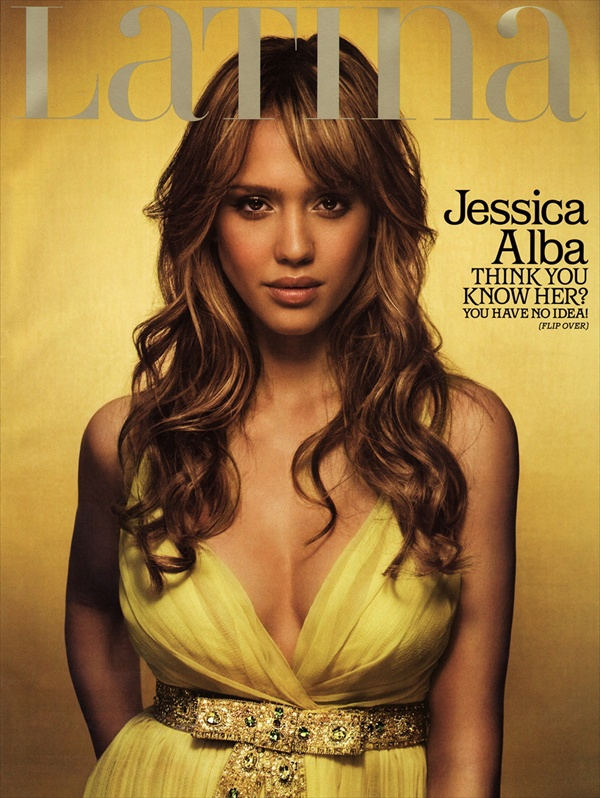 jessica alba on the cover of latina magazine