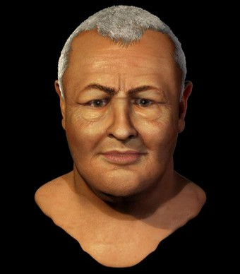 Reconstruction of the face of late German composer Johann Sebastian Bach