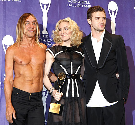 madonna iggy pop justin timberlake rock'n'roll hall of fame