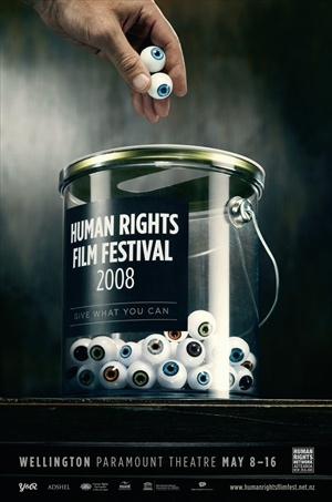 human rights film festival 2008: give what you can - social advertising Y&R wellington