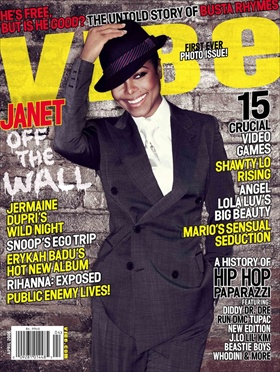 janet jackson on the cover of vibe magazine april 2008