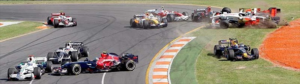 The Australian Formula 1 Grand Prix at Albert Park Melbourne