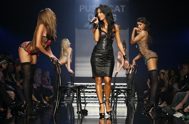 Nicole Scherzinger and Pussycat Dolls, Robin Antin lingerie collection, Los Angeles Fashion Week