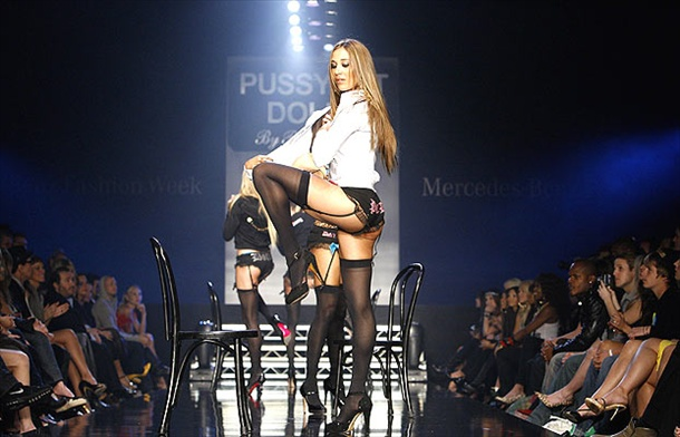 pussycat dolls lingerie show at la fashion week in culver city