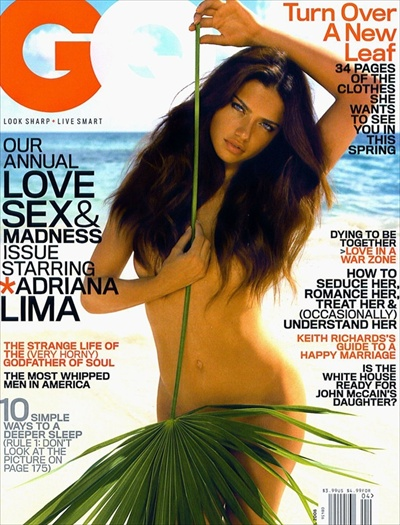 Adriana Lima / GQ april 2008 cover US edition
