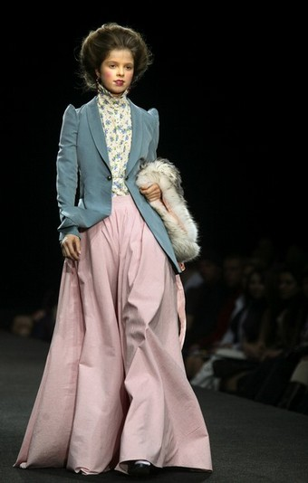 Creations by Russian designers Olga Shilova and Anastasia Sergeeva during the Fashion Week in Moscow