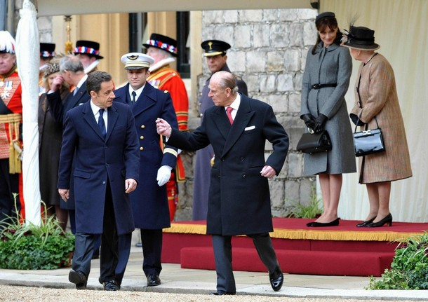 nicolas sarkozy, duke of edinburgh prince philip, carla bruni, queen elizabeth II
