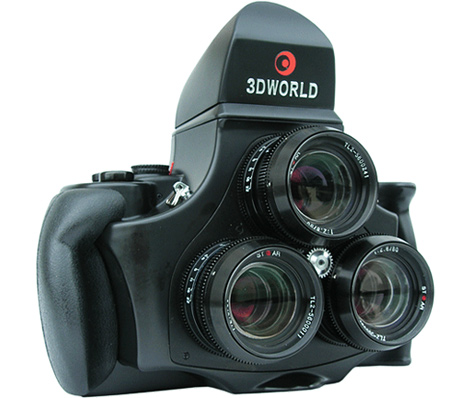 3D World 120 Tr-Lens Stereoscopic Camera