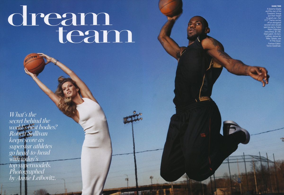 an essay on advertising lebron james and giselle