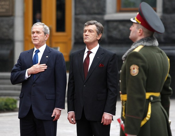 president george w bush official visit to ukraine