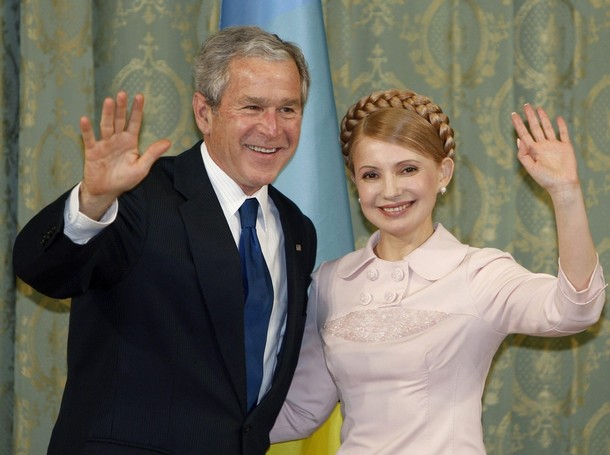юлия тимошенко и джорд буш - yulia tymoshenko and george w. bush