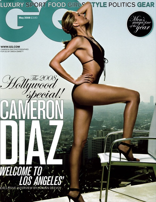 Cameron Diaz on the cover of GQ The 2008 Hollywood Special