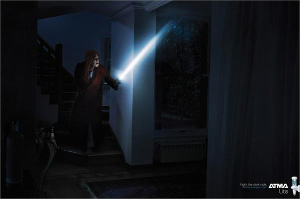 atma lights fight the dark side advertising