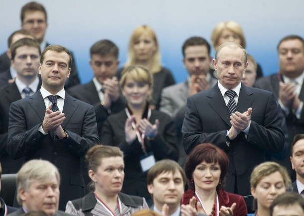 vladimir putin and dmitry medvedev united russia party congress